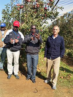 Tour of water resources for agriculture course ,Galilee College. Spanish and Portuguese speakers from South America and Africa.