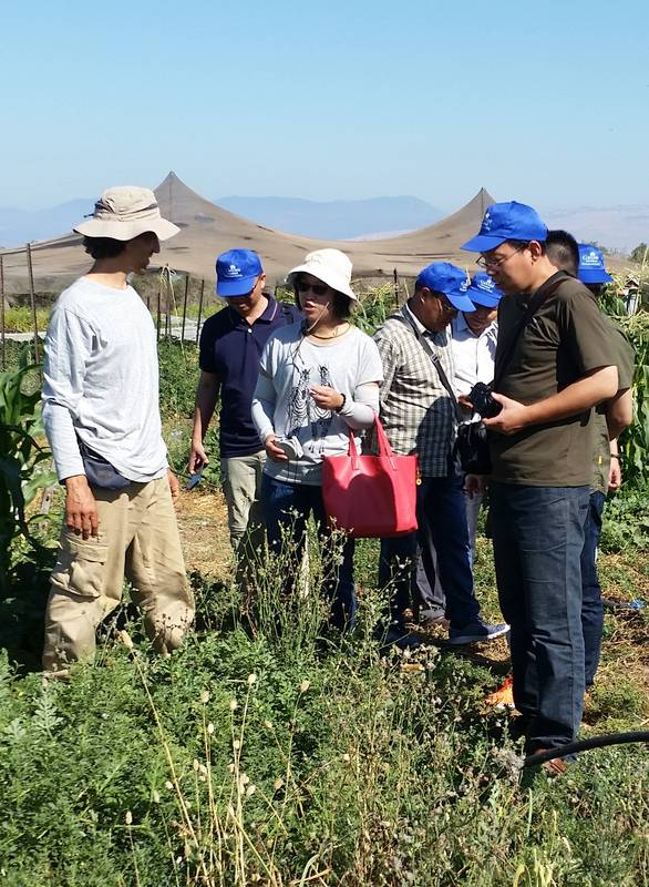 Rain Harvesting , Water & Agriculture Management tour for 10 Chinese agricultural researchers 6.6.17