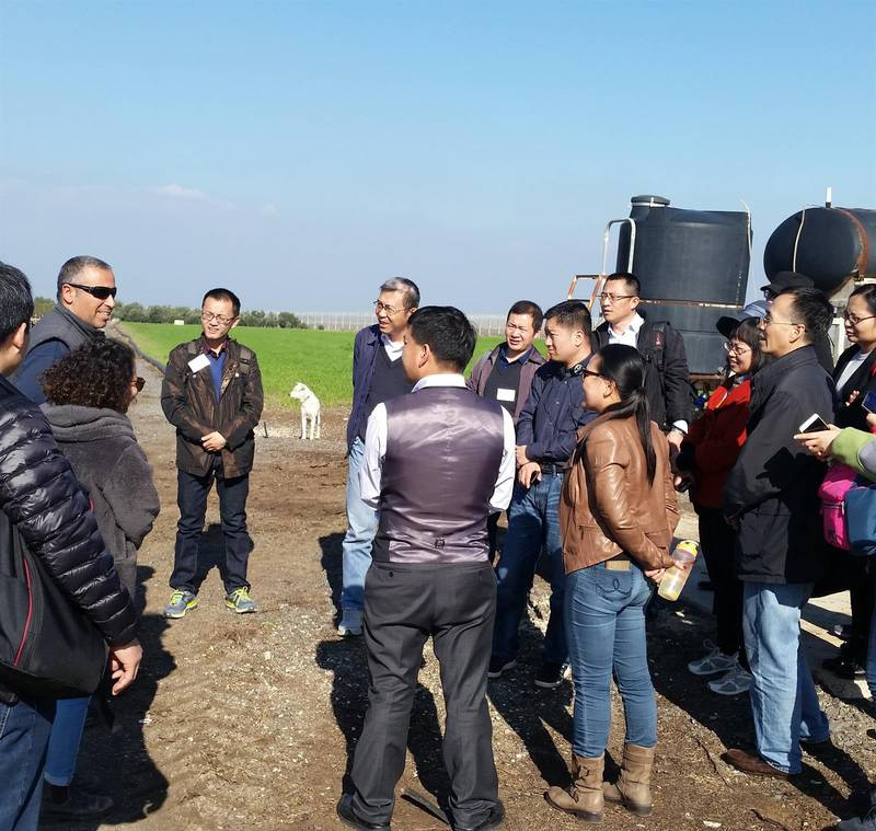To the water sources in northern Israel and effective regional water and agriculture management, 31/1/18